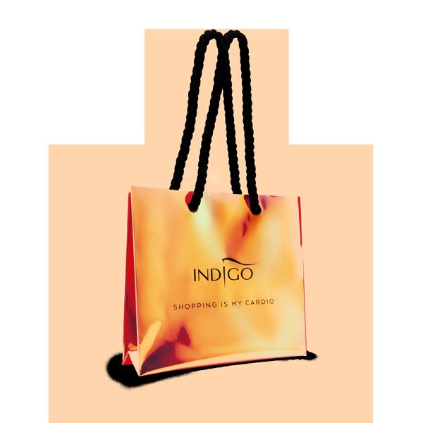 Holograficzna torba zakupowa - pomarańczowa