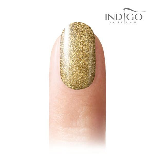 Light Gold Glitter Gel Polish