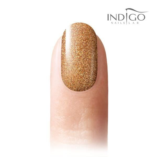Rich Gold Glitter Gel Polish