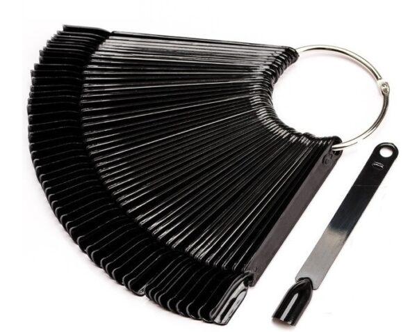 Wzornik na metalowym kółku czarny