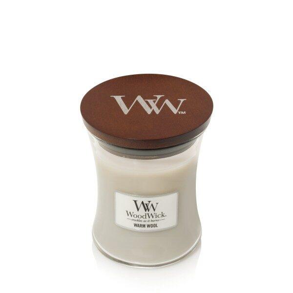 WoodWick Warm Wool świeca średnia