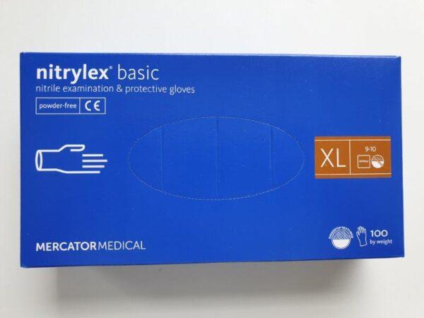 Rękawiczki rękawice jednorazowe nitrylowe - rozmiar XL - 100 szt.