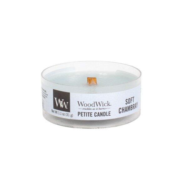 WoodWick Soft Chambray świeca petite