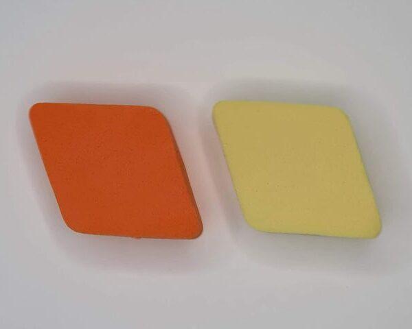 Gąbeczki - gąbki - gąbka - do ombre - 2 sztuki (Pomarańczowy/Żólty)