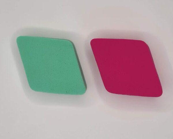 Gąbeczki - gąbki - gąbka - do ombre - 2 sztuki (Czerwony/Zielony)