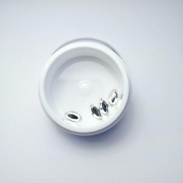 Navette Flat Back 4 x 8 mm – 4 sztuki – Kryształy Swarovskiego