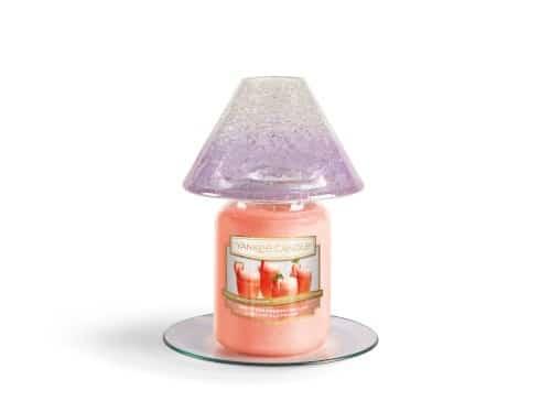 Yankee Candle Savoy - zestaw duży klosz + talerz – fioletowy
