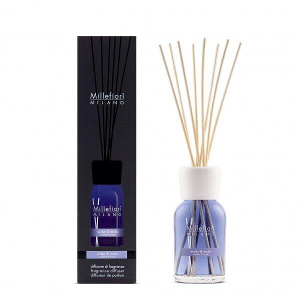 Millefiori Milano Violet and Musk pałeczki zapachowe 250 ml