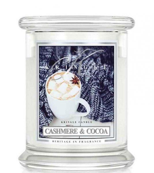 Kringle Candle Cashmere and Cocoa świeca zapachowa (411g)