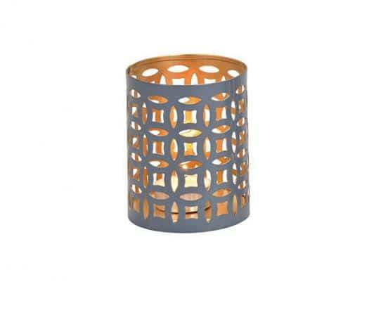 Home Decor - Maroccan - Metalowy lampion szary - (8cm x10 cm)