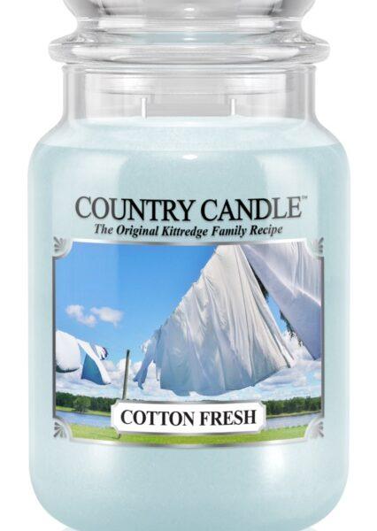 Country Candle Cotton Fresh świeca zapachowa (652g)