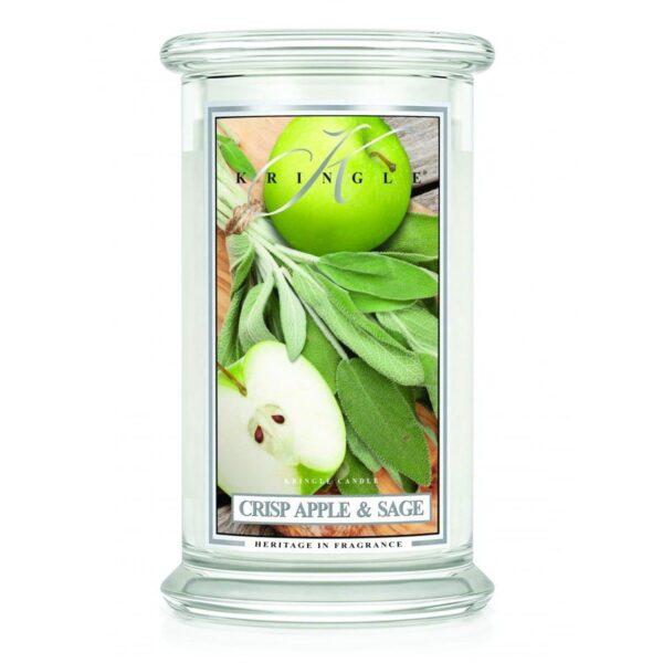 Kringle Candle Crisp Apple and Sage świeca zapachowa (624g)